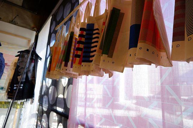 """布博、初日無事終了しました。明日、あさってと残り2日間もどうぞよろしくお願いいたします!(S).The exhibition """"nuno-haku in Tokyo vol.12"""" will started today at Machida Pario ion the 4th floor.Thank you!.「布博 in 東京 vol.12」Week1.「冬晴れ織りとニット展」2019年1月18日(金)-1月20日(日)Fri:10:00~18:30 Sat:10:00~18:30 Sun:10:00~18:00入場料:500円会場:町田パリオ町田市森野1-15-13 3F、4F、5Ftextilefabrics.jp.#poletopoletextile #textile #textiledesign #poletopole #jacquard #播州 #大城戸織布 #ジャカード #布博 #nunohaku #ONPUproject #poletopolelab"""